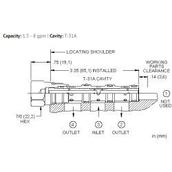 FSCDXAN Flow divider valve