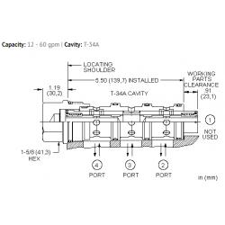 FSFAXAN Closed center, flow divider-combiner valve