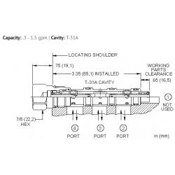 FSAAXAN High accuracy, closed center, flow divider-combiner valve