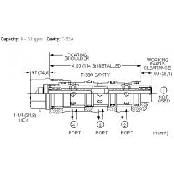 FSEHXAN High capacity, closed center, flow divider-combiner valve