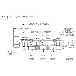 FSASXAN High accuracy synchronizing, flow divider-combiner valve
