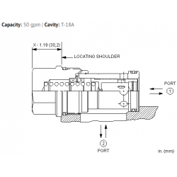 FQIAXAN Fixed orifice, flow fuse valve