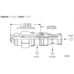 CBCYLHN 2:1 pilot ratio, standard capacity counterbalance valve