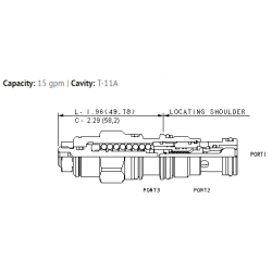 CBCALHN 3:1 pilot ratio, standard capacity counterbalance valve