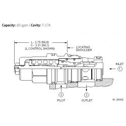 CBGALHN 3:1 pilot ratio, standard capacity counterbalance valve