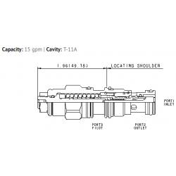 CBCGLJN 4.5:1 pilot ratio, standard capacity counterbalance valve