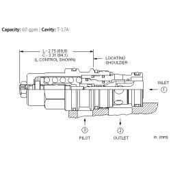 CBGGLJN 4.5:1 pilot ratio, standard capacity counterbalance valve