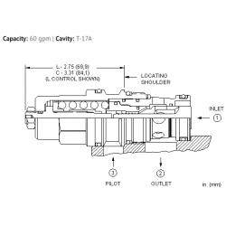CBGHLJN 10:1 pilot ratio, standard capacity counterbalance valve