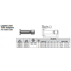 Lapped Joint Tube Adapters For metric tube