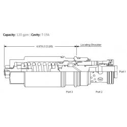MBIBLHN 1.5:1 pilot ratio, load reactive load control valve