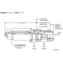 MBGGLHN 4.5:1 pilot ratio, load reactive load control valve