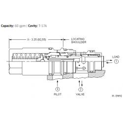 MBGBXLN Fixed setting, 1.5:1 pilot ratio, load reactive load control valve