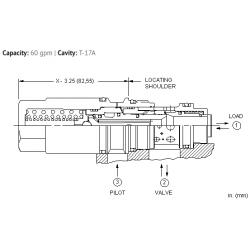 MBGAXLN Fixed setting, 3:1 pilot ratio, load reactive load control valve