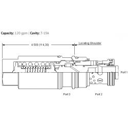 MBIAXLN Fixed setting, 3:1 pilot ratio, load reactive load control valve