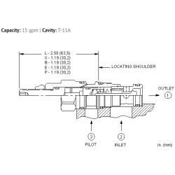 CKCDXCN Pilot-to-open check valve with sealed pilot