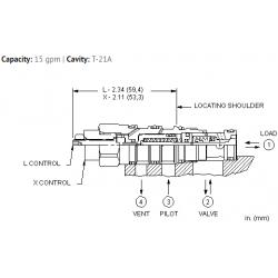 CVCVXCN Vented pilot-to-open check valve