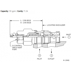 CKEVXCN Vented pilot-to-open check valve - atmospherically referenced