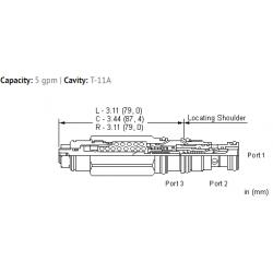 CEBALHN 3:1 pilot ratio, restrictive, LoadAdaptive™ counterbalance valve