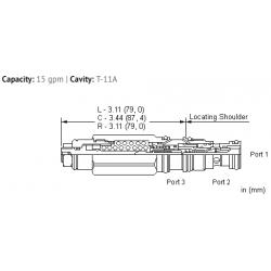 CECALHN 3:1 pilot ratio, standard capacity, LoadAdaptive™ counterbalance valve