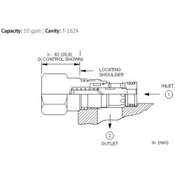 CXBAXCN Free flow nose to side check valve