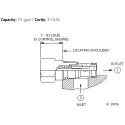 CXADXCN Free flow side to nose check valve