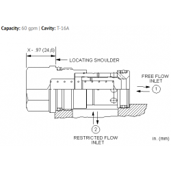 CNHCXCN Free flow nose to side check valve with bypass orifice