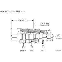 DODSXHN Normally open, balanced poppet, logic element - pilot-to-close