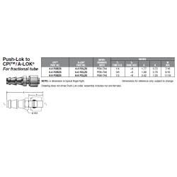 Push-Lok to CPI™ / A-LOK For fractional tube