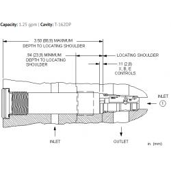CSANXXN Insert style, single ball shuttle valve with signal at port 2