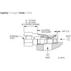 CSAWBXN Single ball shuttle valve with signal external