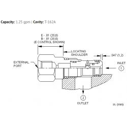 CSAYBXN Single ball shuttle valve with signal at port 2