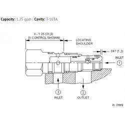 CSAZXXN Single ball shuttle valve with signal at port 2