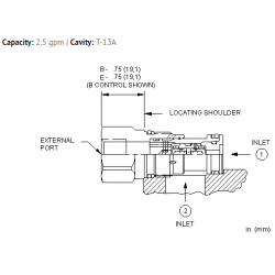 CDAABBN Back-to-back check/shuttle valve with signal external