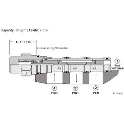 DSCHXHN Low side, 3-position, hot oil shuttle valve
