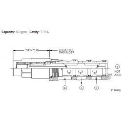 DSGSXGN High side, 3-position, shuttle valve