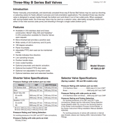 Three-Way B Series Ball Valves