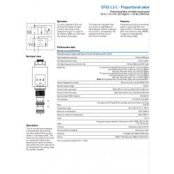 EFV2-12-C - Proportional valve