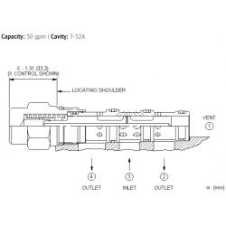 DSEYXEN 3-way, 2-position, vent-to-shift diverter valve, normally open