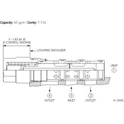 DSGYXEN 3-way, 2-position, vent-to-shift diverter valve, normally open
