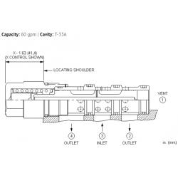 DSGXXEN 3-way, 2-position, vent-to-shift diverter valve, normally closed