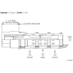DSIXXEN 3-way, 2-position, vent-to-shift diverter valve, normally closed
