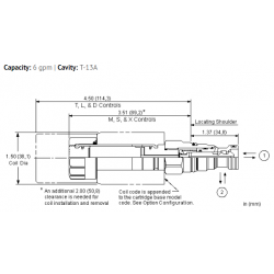 DTCAXCN 2-way, direct-acting, solenoid-operated directional poppet valve with overlap