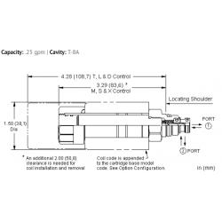 DAALXCN 2-way, solenoid-operated directional spool valve - pilot capacity