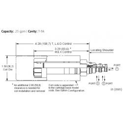 DBALXHN 3-way, solenoid-operated directional spool valve - pilot capacity