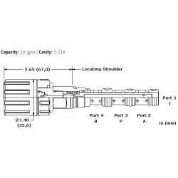 DNDMLNN 4-way, manually-operated, directional spool valve