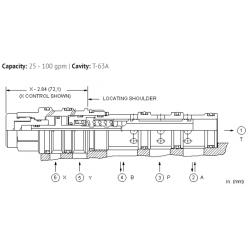DCEFXXN 4-way, 2-position, pilot-to-shift directional valve