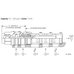 DCFFXXN 4-way, 2-position, pilot-to-shift directional valve
