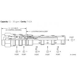 DCDCXCN 4-way, 3-position, pilot-to-shift directional valve