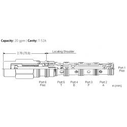 DDDCXCN 4-way, 3-position, pilot-to-shift directional valve