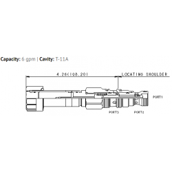 FMDBXCN Electro-proportional 3-way flow control valve, meter in